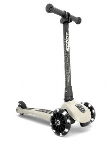 SCOOT AND RIDE Highwaykick 3 LED Hulajnoga składana 3+ White