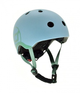 SCOOT AND RIDE Kask dziecięcy 1-5 Steel 45-51cm