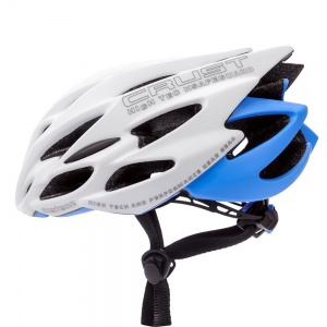 Meteor kask rowerowy CRUST IN-MOLD White Blue - rozm.  XL 61-63cm