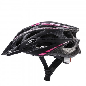 Meteor kask rowerowy DRIZZLE Black Pink - rozm.  XL 61-63cm