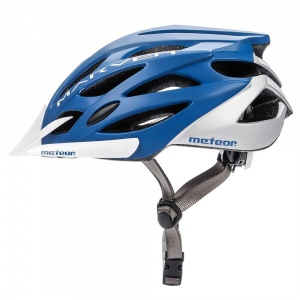 Meteor kask rowerowy MARVEN Blue White - rozm.  S 52-56cm
