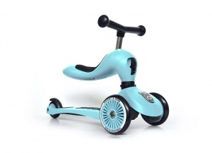 SCOOT AND RIDE Highwaykick 2w1 Jeździk i hulajnoga 1-5 lat BlueBerry