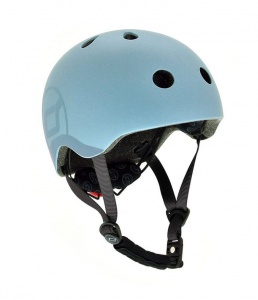 SCOOT AND RIDE Kask dziecięcy 3+ Steel 51-55cm