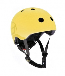 SCOOT AND RIDE Kask dziecięcy 3+ Lemon 51-55cm