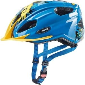 UVEX kask rowerowy Quatro Junior  - Blue Yellow 50-55