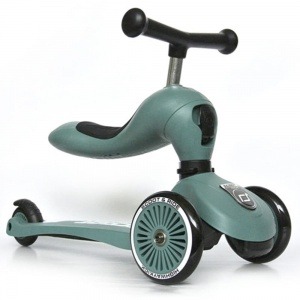 SCOOT AND RIDE Highwaykick 2w1 Jeździk i hulajnoga 1-5 lat ForestGreen