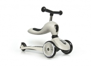 SCOOT AND RIDE Highwaykick 2w1 Jeździk i hulajnoga 1-5 lat White